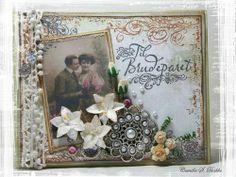 lovely vintage wedding  card
