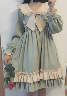 This one looks very doable Kawaii Fashion, Lolita Fashion, Cute Fashion, Girl Fashion, Rock Fashion, Pretty Outfits, Pretty Dresses, Beautiful Dresses, Cute Outfits