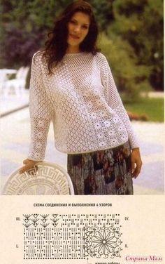 Пуловер из четырех мотивов.
