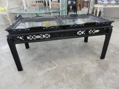 Vintage Chippendale Tray Table