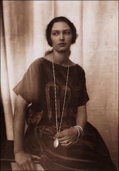 """Jaroslava"" in 1930, Alphonse Mucha's daughter."