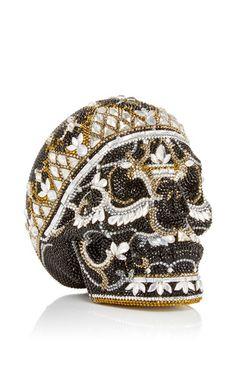 "Skull ""Bela"" Clutch by Judith Leiber for Preorder on Moda Operandi"