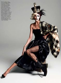 Anja Rubik for Vogue Paris August 2013 in God Save the...