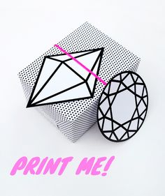 printable halftone wrap & graphic gems // by minieco