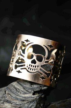Skull Cuff Bracelet #skulls