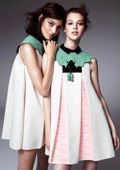 Anais Pouilot & Marikka Juhler Wear the 2013 H&M Design Award Winner's Collection - Fashion Show Foto Fashion, Street Fashion, Fashion Beauty, Fashion Looks, Womens Fashion, Paris Fashion, Fashion Art, Fashion Details, Fashion Design