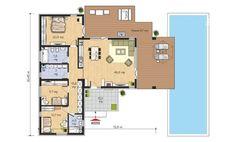 Case mici cu trei dormitoare – 3 proiecte detaliate | stiri.MagazinulDeCase.ro House Plans, Floor Plans, How To Plan, Modern, Houses, Blueprints For Homes, Homes, Home Plans, House Design