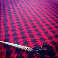 Check out this #Silk we're cutting to line our winter coats! #delicious #lucious #beautiful