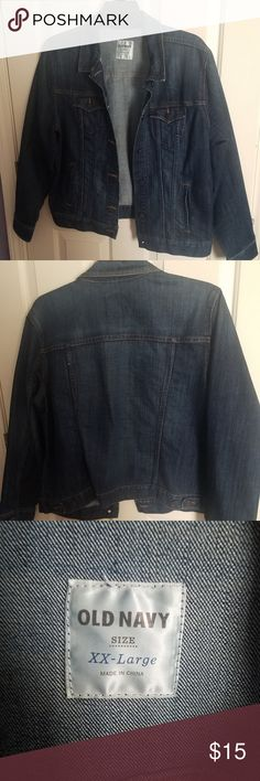 Old Navy Women's Dark Denim Jacket in Size XXL Excellent condition.  Only worn once or twice! Old Navy Jackets & Coats Jean Jackets