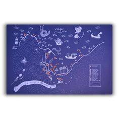 Mapa poético de los naufragios de Valparaíso - Lámina - Mappin