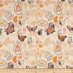 Designed by Sandi Henderson for Michael Miller Fabrics, this cotton print collection features gorgeous saturated prints that are perfect for quilting, apparel, and home decor accents. Colors include cream, purple, shades of pink, shades of orange, and white.