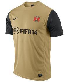 Leyton Orient Gold/Black Nike Away Shirt 2013/14 Leyton Orient Fc, Championship League, Soccer Jerseys, Sports Shirts, Black Nikes, Football, Gold, Design, Football Shirts