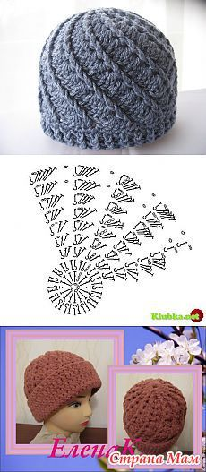Crochet Puff Stitch Beanie Hat That is just really neat to look at. Easy to crochet. Bonnet Crochet, Crochet Beanie Hat, Crochet Cap, Crochet Diagram, Crochet Stitches, Free Crochet, Crochet Crafts, Crochet Projects, Knitted Blankets