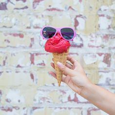 Ice-cream + Babiators = A great summer day! You can't go wrong with these $20 sunnies