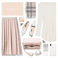 """""""Fall pink"""" by deepwinter ❤ liked on Polyvore featuring Banana Republic, Mark Cross, Fraas, Lizzie Fortunato, Henri Bendel, KC Designs, Fall, Pink, pleats and boxbag"""