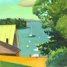 View from Main Street, Maine - Susan Abbott