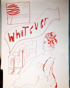 Viktoria Ottosson  whatever red ink drawing