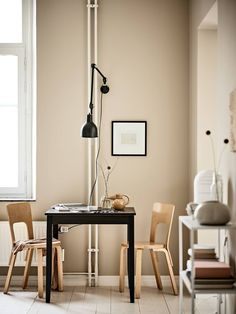Tour a Tiny One-Room Apartment Making a Case for Small Space Living - Nordic Design One Room Apartment, Apartment Living, Small Space Living, Small Spaces, Inviting Home, Beige Walls, Beige Wall Colors, Minimalist Home, Small Apartments