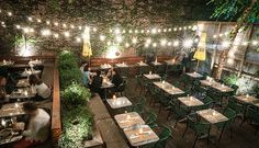 Brunch in a garden and dinner by the Hudson...already waiting for warmer weather, via @PureWow