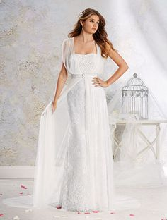 Alfred Angelo Bridal Style 8540 from Modern Vintage Bridal Gowns. Plus size up to size 26 Turquoise Wedding Dresses, New Wedding Dresses, Elegant Wedding Dress, Lace Wedding, 1920s Wedding, Alfred Angelo Bridal, Illusion Neckline Wedding Dress, Vintage Bridal, Bridal Collection