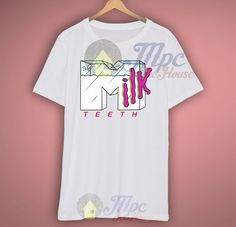 Milk Teeth Music T Shirt, the picture will be printed using Direct To Garment Printing Technology in full color with durable photo quality