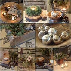 Landelijke kerstdecoratie
