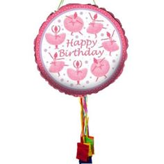 Purchase Ballerina Birthday Pull String Pinata and other party supplies. The most popular party Supplies and Decorations, all available at wholesale prices!