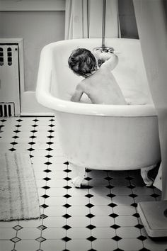Bath time photo shoot. #kids #bathroom #bath #tub