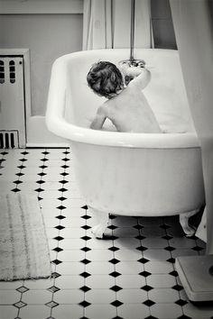 Bath time photo shoot. #kids #bathroom #bath #tub