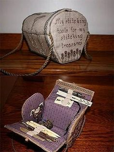 Thistle Stitcher's Purse Kit (counted cross stitch kit) Product No: 698076 ~ Supplier Code: H09-1592 ~ Designer/Artist: Stitching Treasures ~ Price: $ 49.99 ~ from ABC Stitch Therapy