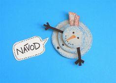 Návod: Sněhulák z papíru  Postavte si sněhuláka, který nestudí, a užijte si zimní radovánky, i když vás rýma a kašel nepustí do sněhu ;-)