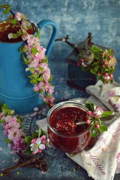 Smaki Alzacji : Konfitura rabarbarowa z rodzynkami macerowanymi w ...