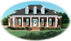 Elevation of Cape Cod   House Plan 48523