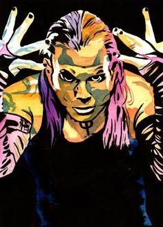 Jeff Hardy - Ink and watercolor on x watercolor paper Best Wwe Wrestlers, Wwe Jeff Hardy, The Hardy Boyz, Wwe Wallpapers, Iphone Wallpapers, Brothers In Arms, Hulk Hogan, Wrestling Wwe, Wwe Superstars