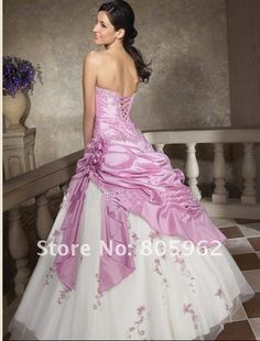 Wholesale-Free shipping !! best selling !Stock light -purple wedding Dress/prom gown !