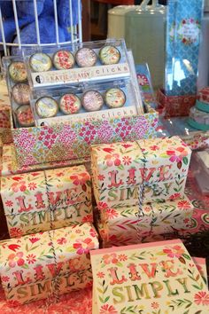 Katie Daisy is in the nest Nest, Home Goods, Personal Style, Daisy, Gift Wrapping, Display, Store, Crafts, Paper Wrapping