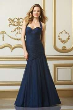 Wtoo Maids Dress Style #501 (Fall 2013 Collection) Sweetheart neckline with halter tie Shirred dropped waist bodice Fit and flare silhouette with floor length skirt *available in different colors