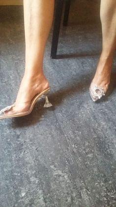 Sky High Heels Transparent Summer Women's Shoes | 4Colordress Womens Summer Shoes, Sky High, Strap Heels, Women's Shoes, Kitten Heels, High Heels, Take That, Pairs, Legs