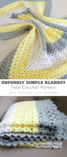 Crochet Afghans, Afghan Crochet Patterns, Crocheted Blankets, Knitting Patterns, Baby Patterns, Free Easy Crochet Patterns, Pattern Sewing, Crochet Patterns For Beginners, Knitting Ideas