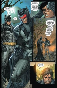 Jason and Bruce - Red Hood and the Outlaws #18 *I read the last line* AWWWWWWWWGAWD SO MANY FEELS.