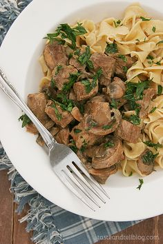 Slow Cooker Beef Stroganoff {America's Favorite Food Review and Giveaway} - Taste and Tell