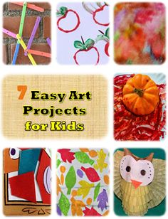 Easy Art Projects for Kids including lots of fall art ideas!