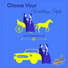 Choose your wedding style. Royal Or Vintage? #letsannounce #wedding #weddinginvite  Www.letsannounce.com