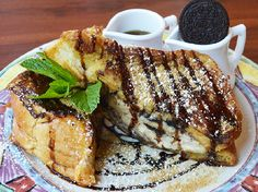 Harbor - Oreo Cheesecake Stuffed French Toast; garnished with Oreo ...