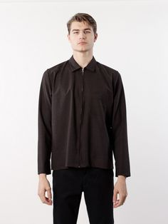 L'HOMME ROUGE AW16 Second Layer Wool Shirt Brown