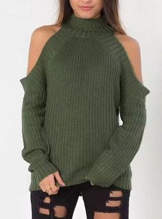 Sexy styling and excellent detailing was used to create this stunning knit sweater which features cold shoulder to expose your upper arms. The ribbed detail surrounds the sleeve opening, neck and cuff