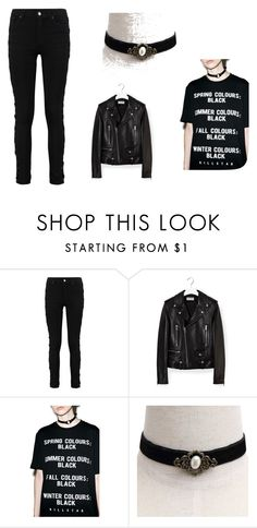 """black love"" by projekttrool on Polyvore featuring moda, Yves Saint Laurent i Killstar"