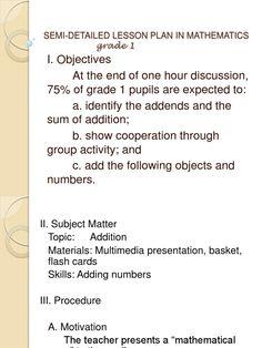 Lesson Plan in Math 1 Grade 1 Lesson Plan, Lesson Plan Format, Lesson Plan Examples, Writing Lesson Plans, Science Lesson Plans, Teacher Lesson Plans, Kindergarten Lesson Plans, Lesson Plan Templates, Lesson Plan In Filipino
