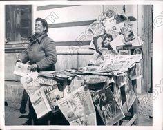 1953 Belgrade Serbia News Stand Had Comic Books & Communist Press Press Photo | eBay
