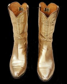 Gold Cowgirl Boots - Cr Boot